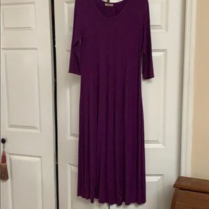 plum long dress
